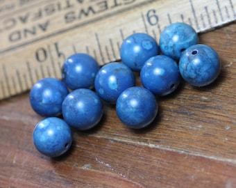 Lapis Beads Round Blue Lapis Lazuli Beads Blue Gemstone Bead Jewelry Making