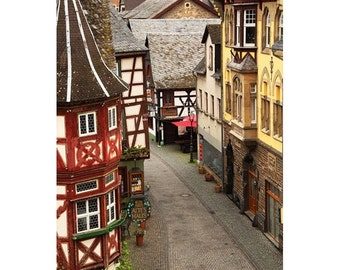 Fine Art Color Travel Photography of the Main Street in Bacharach, Germany