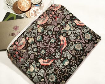 William Morris coin purse,coin purse, zipped purse, zip pouch, zipper pouch, change purse, change pouch, stylish purse, fabric purse, gift