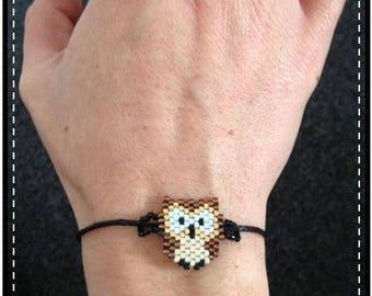 OWL Locket - miyuki beads