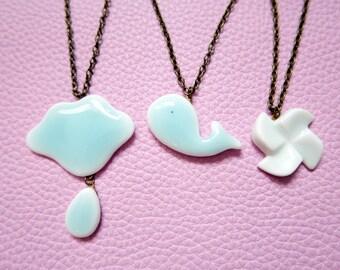 Necklace porcelaine