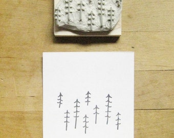 Forest Pattern Hand Carved Stamp