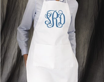 Monogrammed Apron, Women's Apron, Personalized Apron, Monogrammed Gifts, Housewarming Gifts, Group Discounts, Full length apron