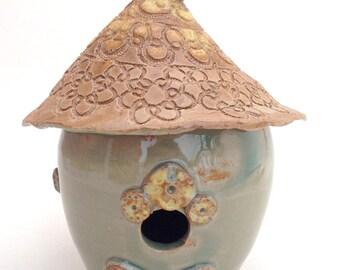 Small Decorative Ceramic Birdhouse
