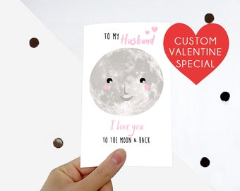 Personalised Valentine card - I love you card - Valentine's Day, boyfriend card, girlfriend boyfriend card, romantic custom Valentine card