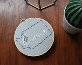 Home State Embroidery Hoops