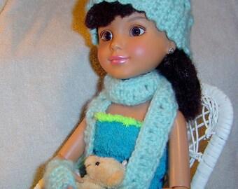 0057  BFC / American Girl Pattern,18 Inch Doll Pattern,Crochet Doll Set,4PC Scarf Doll Pattern,Doll Fashion by CarussDesignZ