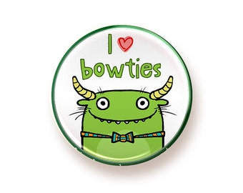 I love Bowties - button