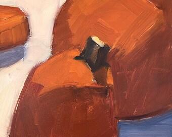 Fall Pumpkins- Original Still Life Oil Painting