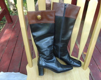 Vintage A. GIANNETTI Genuine Leather Riding Style Boots