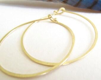 18k gold hoops hammered 18 karat solid gold endless hoop earrings matte gold hammered hoops
