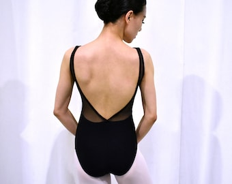Mercedes Ballet Leotard - Side Front to Back Mesh - Small