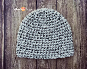 Pebbled Beanie Crochet Pattern Only