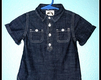 Boys Rockabilly Lost at Sea Shirt....size 18-24 months
