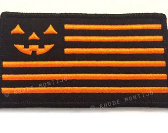 UNITED HALLOWEEN FLAG embroidered patch by Rhode Montijo