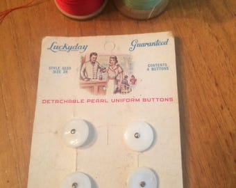Vintage Pearl Uniform Buttons
