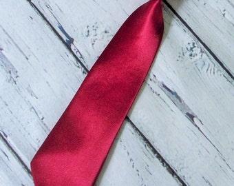 Boys Neck tie crimson red necktie wedding necktie first birthday cake smashing tie photo shoot little boys tie
