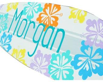 Surf Decor, Surfboard Sign, Surf Board Wall Art, Girls Beach Nursery Decor