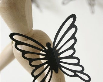 Butterfly Stickers BLACK AND BROWN, Butterfly Decals, 3D Butterfly Wall Stickers