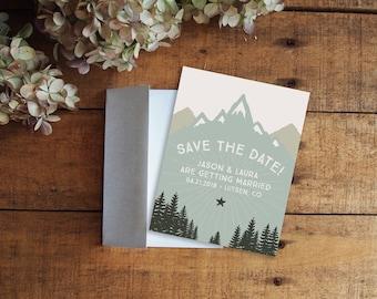 Save the Date, Mountain Save the Date, Mountain Wedding, Rustic Wedding