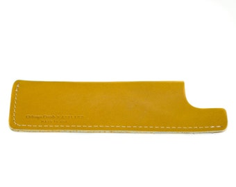 Austin Yellow Horween Leather Sheath for Chicago Comb