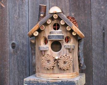 Rustic Elm Birdhouse #7