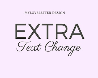 Text change for my premade logo