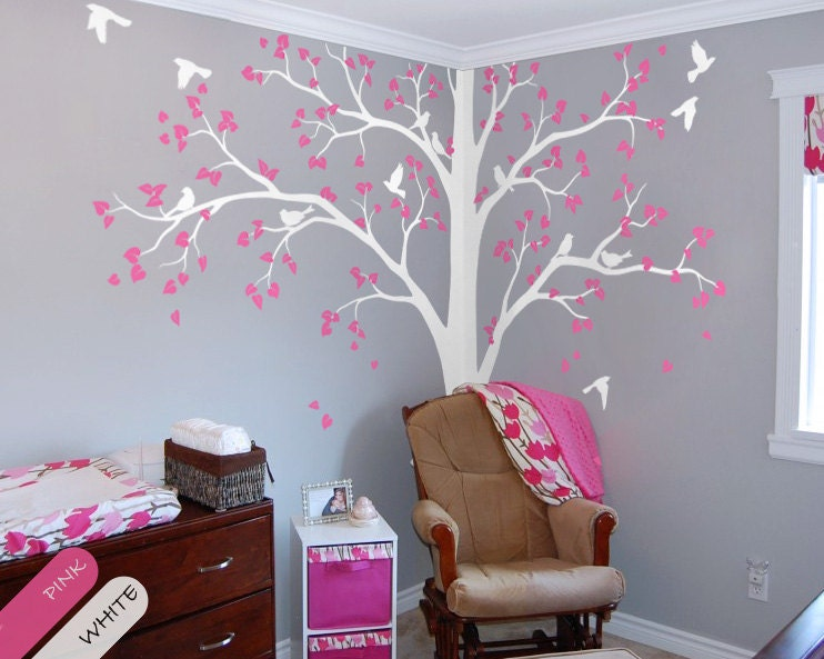 Tree Wall Decal Full Corner Tree decal Nursery Wall Decoration