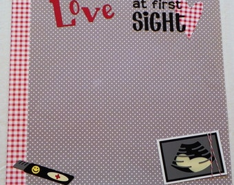 Love at First Sight 12x12 Ultrasound Pre-Made scrapbook page