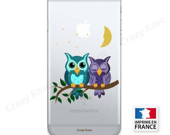 Soft case for iPhone pattern couple of owls
