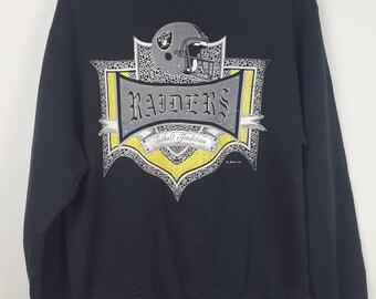 Vintage 1991 Raiders football america sweatshirt