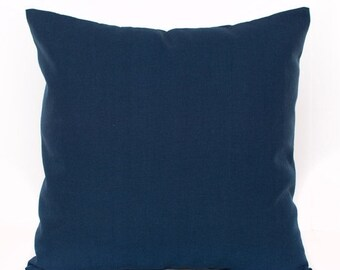 SALE ENDS SOON Solid Navy Throw Pillow Cover, Navy Pillows, Navy Blue Toss Pillow, Boys Room Decor, Navy Nursery Decor, Soft Pillows