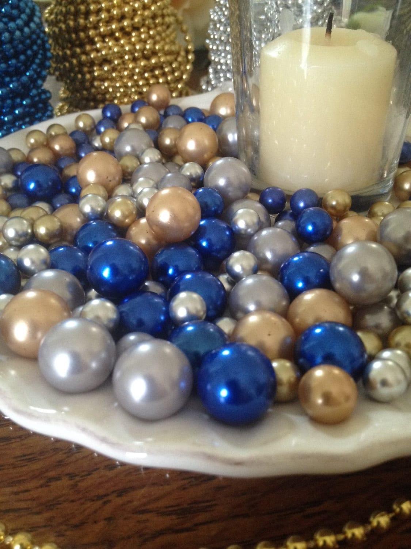 265 pcs pearl bead vase fillers royal blue gold silver zoom reviewsmspy