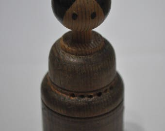 Vintage Wooden Dolly, 4 inches tall