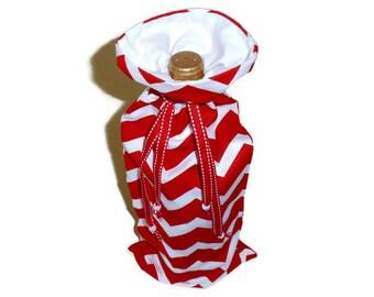 Red Wine Bag, Bottle Carrier Holder, Reuseable Gift Bag, House Warming Gift, Birthday Gift