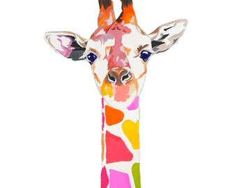 Colorful Giraffe Print