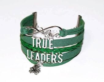 Troop Leader Bracelet   Club Leaders Gift   Coach Gift   Troop Leader Gift   Teacher Gift   Youth Club Leaders   True Leader Jewelry   Charm