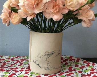 Porcelain Paws Ceramic Vessel