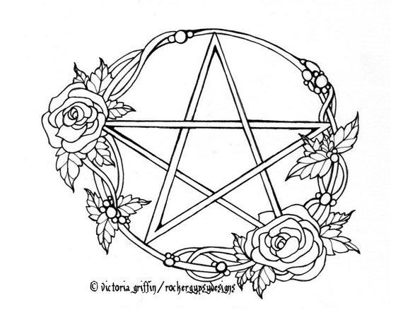 Wicca Färbung Seite Wicca Malvorlagen druckbare Erwachsenen