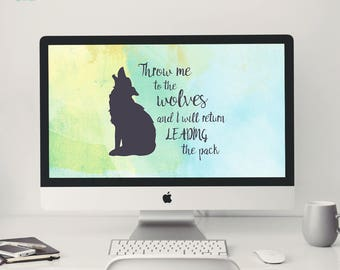 Desktop Background ~ Lead the pack ~ Quote, Affirmation, Computer Wallpaper, Digital Wallpaper, Watercolor
