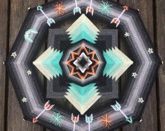Intergalactic Journey, a 2-foot, 8-sided mandala by custom order