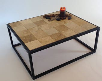 Turkish Stone Coffee Table, End Table, Contemporary Decor Table