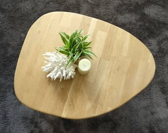 Wood type Scandinavian with wooden legs and copper oak coffee table