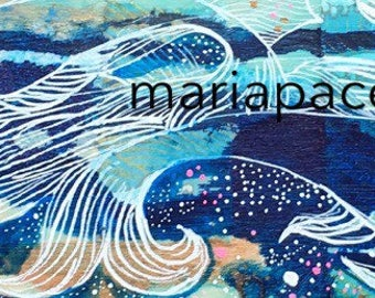 Dream Waves -Original painting by Maria Pace-Wynters