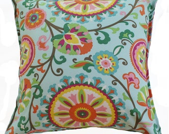 Outdoor / Indoor Suzani Floral Cushion Cover