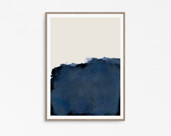 Abstract art print, Landscape art, abstract print, Large scale art, Large abstract, urban style, abstract painting, Giclée Prints, blue art