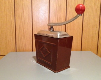 "Metal Coffee Mill from Germany, signature ""SWM Exact""?? . Antique Coffee Grinder. Old Coffee Mill"