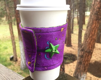 Reusable Coffee Sleeve - Purple Party