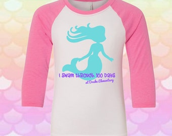 Girls 100 Days of School Shirt,Girls 100 Days Shirt, Girls 100 Days Smarter Shirt, 100 Days of School Raglan, Kids 100 Days of School Shirt