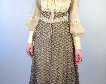 Vintage Gunne Sax Medieval Maxi Renaissance Praire Dress Small